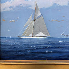 "William Lowe Oil on Linen ""Perfect Sailing Day – Nantucket"""