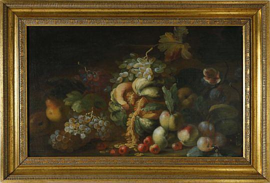 137-4900 19th C Fruit Still Life gilt frame A_MG_3467