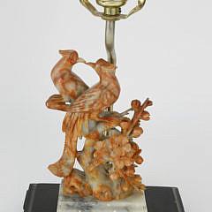 139-4800 Chinese Soapstone Phoenix Bird Lamp A_MG_3790