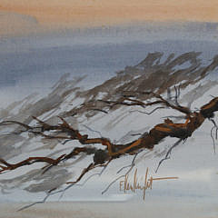 "Triptych Watercolor, ""Florida Keys Shoreline Seascape"""