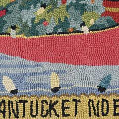 "Claire Murray Hooked Rug, ""Nantucket Noel"""