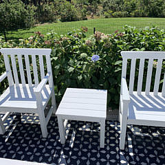 17-4892 Pair Weatherend Armchairs and Table A IMG_3308