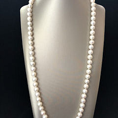 179-4800 Freshwater Pearl Necklace with Gold Starfish Clasp A IMG_4135