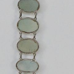 Polished Blue Quartz Sterling Silver Belt