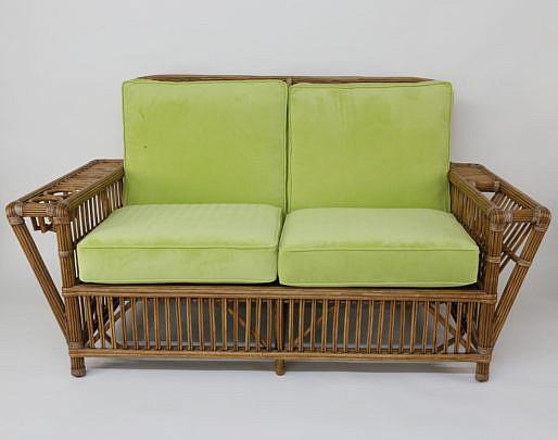 2-4880 Palecek Bamboo Settee and Ottoman A_MG_4411
