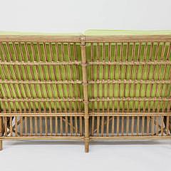 Palecek Bamboo Settee and Ottoman