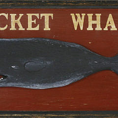"""2-4886 Wooden Sign """"Nantucket Whaling Co."""" A_MG_2639"""