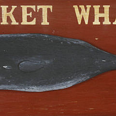 Contemporary Hand Painted Wooden Nantucket Whaling Co. Est. 1774 Sign