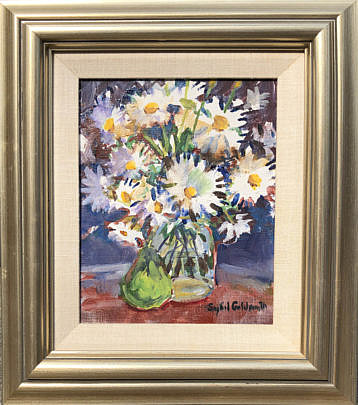 """2-4896 Sybil Goldsmith """"Floral Still Life with Green Pear"""" A IMG_4318"""