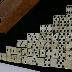 2017-955 Complete Set of Sailor Made Whalebone and Ebony Dominoes A_MG_3751