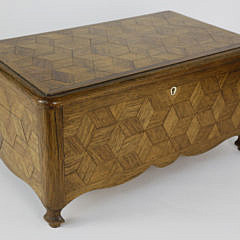 2238-955 Geometric Tumbling Block Parquetry Inlaid Sewing Box A_MG_3854