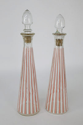 2351-955 Pair of Post Prohibition Glass Liquor Bottles A_MG_3672