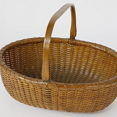 Nantucket Oval Swing Handle Basket, circa 1920