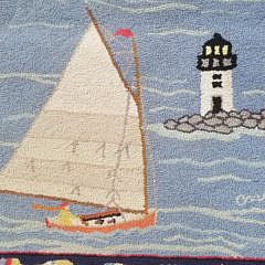 Claire Murray Nantucket Harbor Hooked Rug Runner