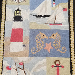 Claire Murray Nantucket Nautical Hooked Rug Runner