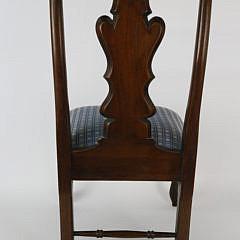 Child's Queen Anne Style Burlwood Chair