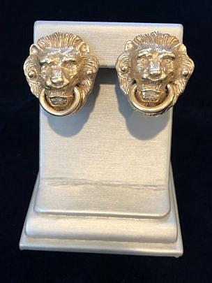 289-4800 Lion Head Earclips IMG_4019