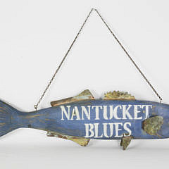 Nantucket Blues Hanging Fish Sign