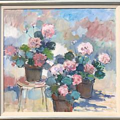 "3-4896 Sybil Goldsmith ""Pink Geraniums"" A IMG_4306"
