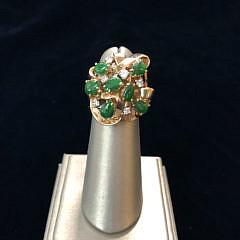 30-4136 Diamond Jade Gold Ring A IMG_4205