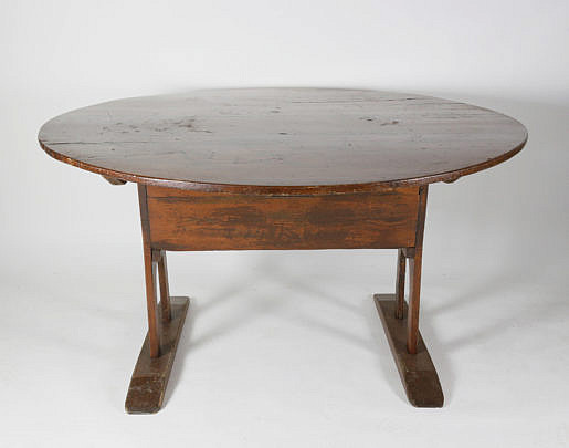 304-4800 18th C Shoe Foot Hutch Table A_MG_4461