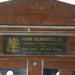 Two Table Markers by John Bennett Co. and William Bayliff, Liverpool