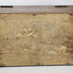 Anglo-English Mariner's Camphorwood Inlaid Traveling Desk, circa 1850s