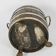 19th Century Brass Bound Peat Bucket