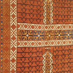 Vintage Persian Hand Woven Wool Prayer Rug