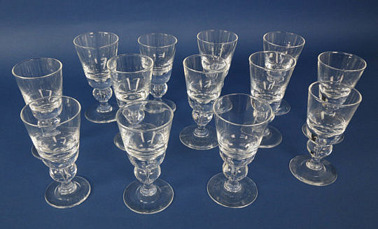 40930 Steuben Clear Crystal White Wine Glasses A_MG_3409