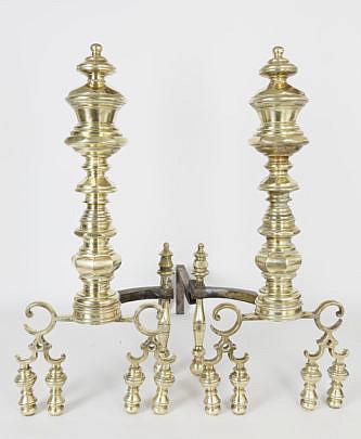 41099 Period American Brass Andirons A_MG_9098