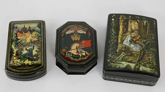 41224, 41220 Three Russian Lacquer Boxes A_MG_3691