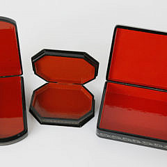 Collection of Three Finely Painted Russian Lacquer Boxes