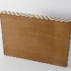 Camel Bone and Mango Wood Geometric Inlaid Serving Tray