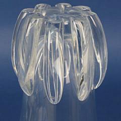 Signed Steuben Clear Crystal Lotus Vase