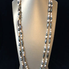 41258 Multicolor fresh water pearl necklace A IMG_4436
