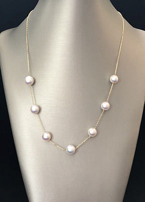 41271-101 White Akoya Pearl Tin Cup Necklace A IMG_4122