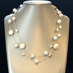 41293-101 Round Fresh Water Baroque and Coin Pearl Necklace B IMG_4103