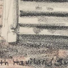 "Ruth Haviland Sutton Colored Pencil on Paper ""Orange Street"""