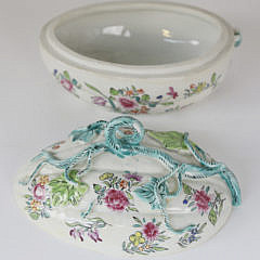 Diminutive French Gourd Form Porcelain Tureen, 19th c.
