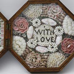 19th c. Double Sailor's Valentine Box — With Love
