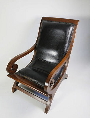 54 Mahogany and Leather Plantation chair A_MG_4357