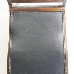 Mahogany and Leather Plantation Armchair