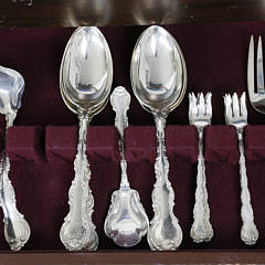 122 Piece Gorham Strasbourg Sterling Silver Flatware Service