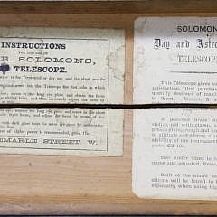 Samuel & Benjamin Solomons, London Day and Astronomical Telescope, circa 1875