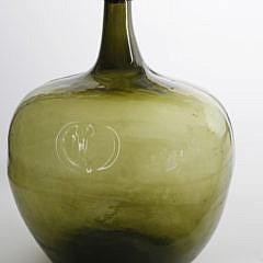 Green Demi-John Bottle Mounted as a Lamp