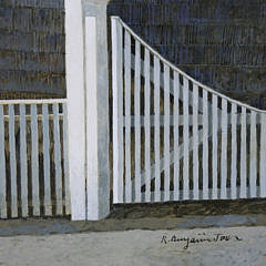 "R. Benjamin Jones Acrylic on Panel, ""Upper Main Street, Nantucket"""