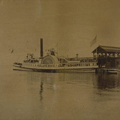 Late 19th c. Nantucket Photograph Side-wheel Steamer – Island Home