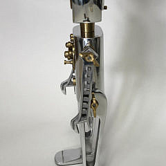 Polished Chrome and Brass Robot Table Clock