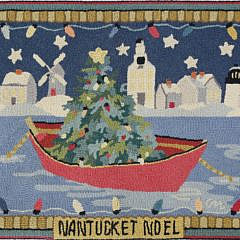 """1533-54 Claire Murray Hooked Rug, """"Nantucket Noel"""" A_MG_3604"""
